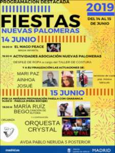 Fiestas Nuevas Palomeras 2019   Asociación de Vecinos Nuevas Palomeras   14 y 15/06/2019   Puente de Vallecas   Madrid   Programación destacada