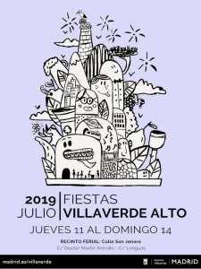 Fiestas de Villaverde Alto 2019 | 11-14/07/2019 | Villaverde | Madrid | Cartel
