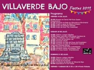 Fiestas de Villaverde Bajo 2019 | Los Rosales | Villaverde | Madrid | 19-21/07/2019 | Cartel programa