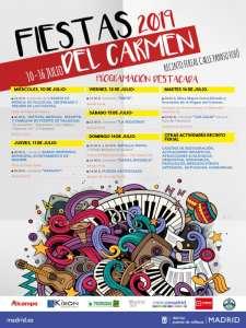 Fiestas del Carmen 2019   Puente de Vallecas   Madrid   10-16/07/2019   Cartel programación destacada