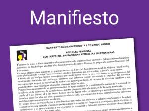 8M Madrid   Manifiesto   Día Internacional de la Mujer 20208