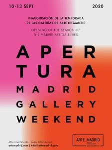 Apertura Madrid Gallery Weekend 2020 | Asociación de Galerías Arte_Madrid | 10-13/09/2020 | Madrid | Cartel