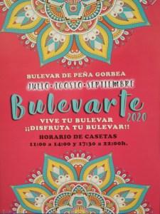 Bulevarte 2020   1er periodo: julio - agosto - septiembre   Bulevar de Peña Gorbea   Puente de Vallecas   Madrid   Cartel
