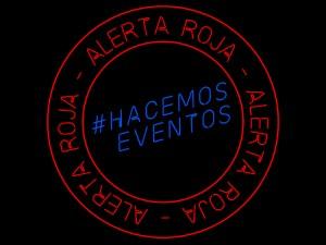 #AlertaRoja   #HacemosEventos   Logo
