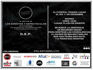 Alerta Roja está de luto por el sector de Eventos y Espectáculos | Convocatoria 11D Madrid