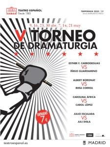 Torneo de Dramaturgia 2021 | Teatro Español | 09/04-21/05/2021 | Madrid | Cartel