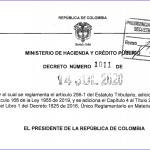 Se reglamenta el artículo 256-1 del Estatuto Tributario, adicionado por el artículo 168 de la Ley 1955 de 2019, y se adiciona el Capítulo 4 al Título 2 de la Parte 8 del Libro 1 del Decreto 1625 de 2016, Único Reglamentario en Materia Tributaria.