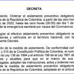 El presidente Iván Duque anunció la ampliación del aislamiento preventivo obligatorio hasta el 30 de agosto.