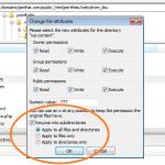 การเปลี่ยน Permissions File ด้วย FileZilla