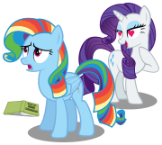 curly rainbow dash poniesnrealife