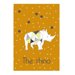 Affiche Rhino, Les choses bizarres — Jaune Moutarde
