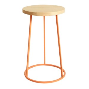 Tabouret, Chouette Fabrique — Orange Citrouille