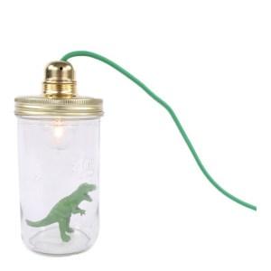 Lampe à poser Dinosaure, La Tête dans le Bocal — Vert Prairie, Ponio