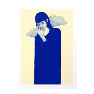 Affiche, Natalie Foss — Bleu roi, Ponio