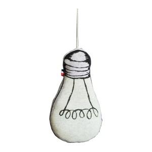 Coussin Phosphorescent, Le Petit M — Gris Perle, Ponio