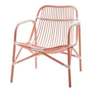 Fauteuil, Rice — Orange Corail, Ponio
