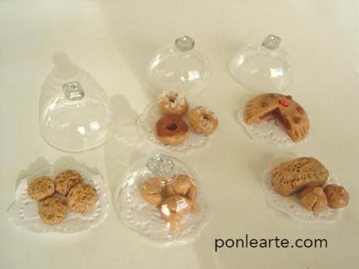Dulces en miniatura muy fáciles de hacer con masa de porcelana.