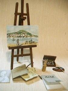 escena pintor en miniatura. ponlearte.com