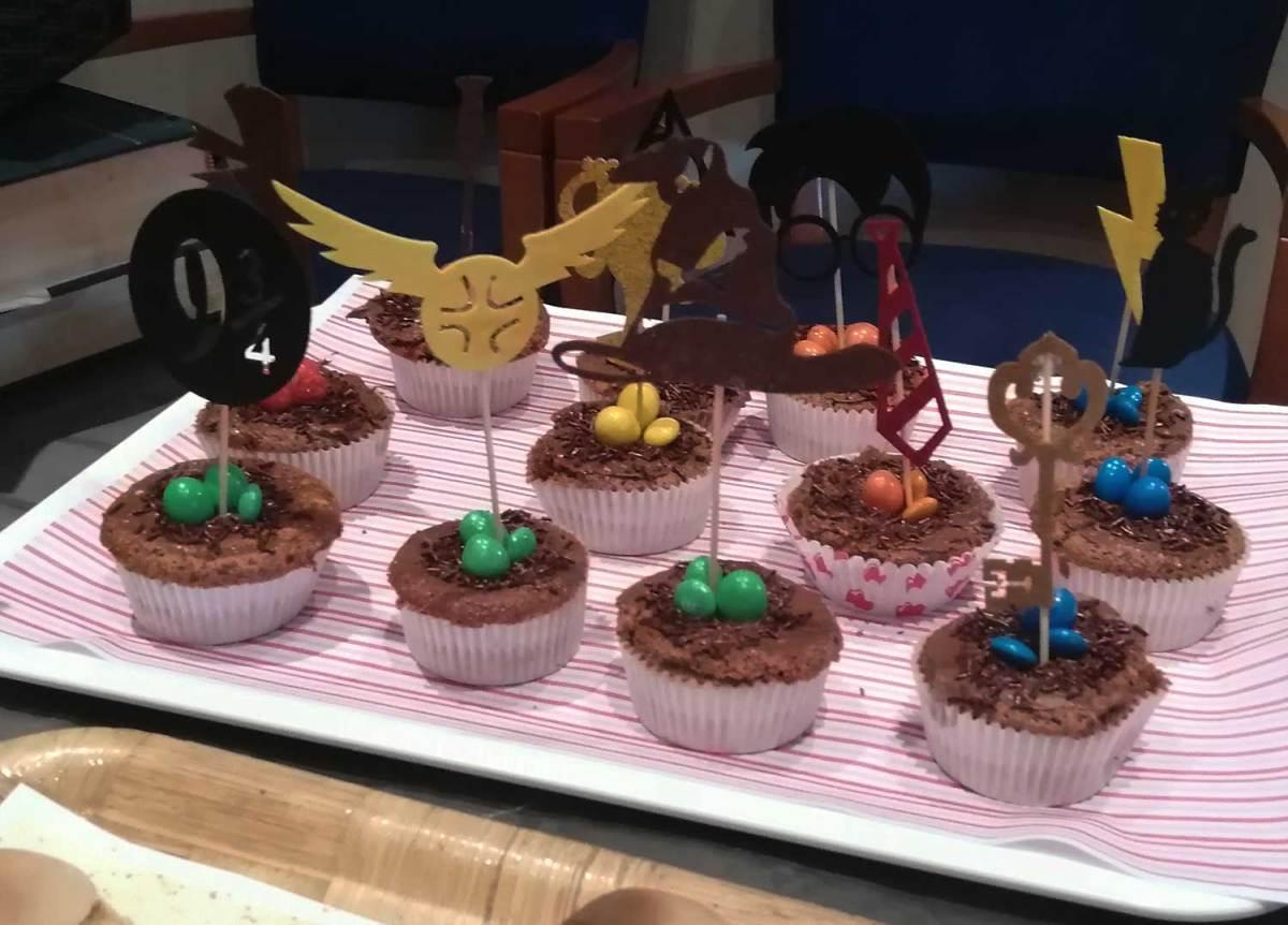 Cupcake. Fiesta de Harry Potter. Ponle arte.