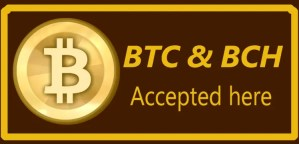 bitcoin & bitcoin cash accepted here