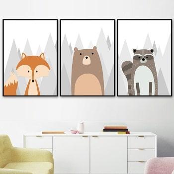 תמונות נורדיות לחדר ילדים