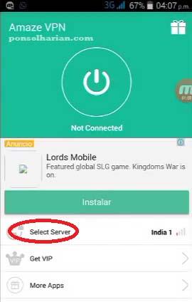 gratis internet terbaru 2017 menggunakan aplikasi amaze VPN di android terbaru