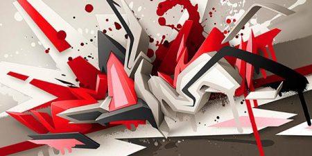 abstrak keren gambar 3d
