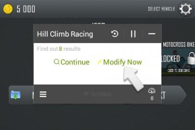 cara cheat game android hill climb racing