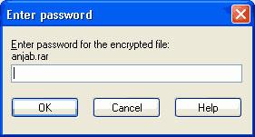 cara memberikan password file zip