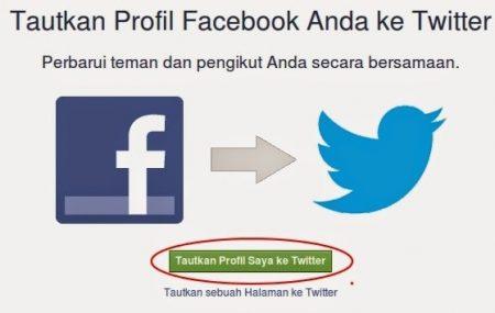 cara menghubungkan akun facebook ke twitter