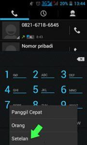 cara menyembunyikan nomer di hp android
