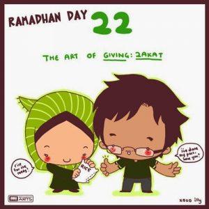 dp bbm ramadhan muslimah lucu hari ke-22
