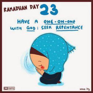 dp bbm ramadhan muslimah lucu hari ke-23