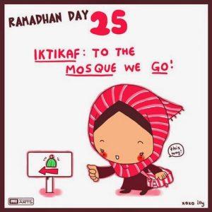 dp bbm ramadhan muslimah lucu hari ke-25
