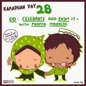 dp bbm ramadhan muslimah lucu hari ke-28