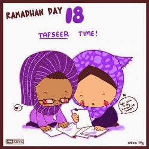 dp bbm ramadhan muslimah lucu hari ke-18