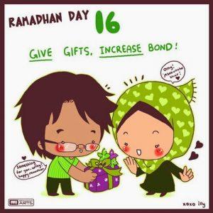 dp bbm ramadhan muslimah lucu hari ke-16