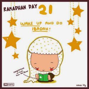 dp bbm ramadhan muslimah lucu hari kedua satu