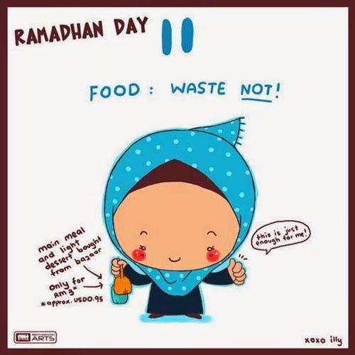 dp bbm ramadhan muslimah lucu hari ke-11