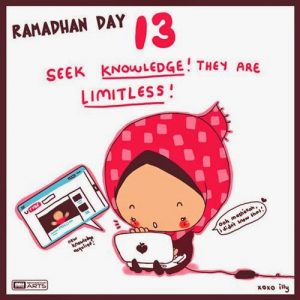 dp bbm ramadhan muslimah lucu hari ke-13