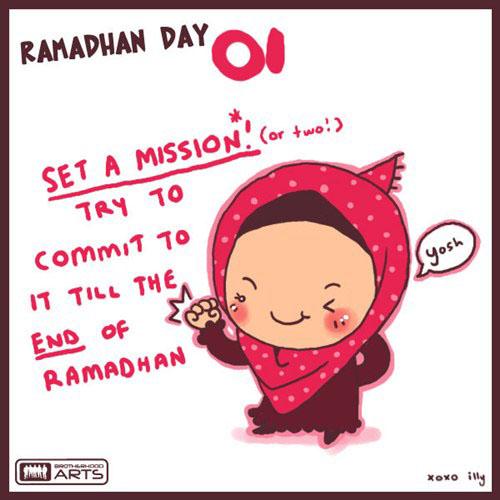 gambar kartun ramadhan hari ke 1