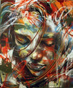 gambar grafiti 3d wanita abstrak