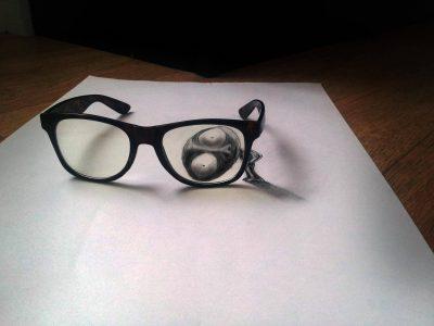 kacamata 3d di kertas