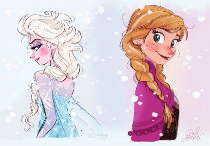 kumpulan gambar dp bbm frozen elsa dan anna