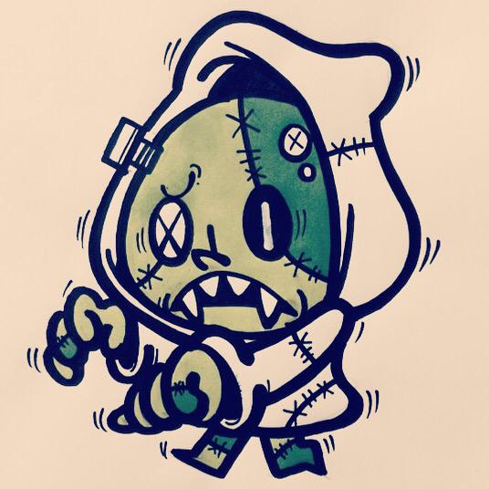kumpulan gambar dp bbm grafiti keren monster_050  Ponsel