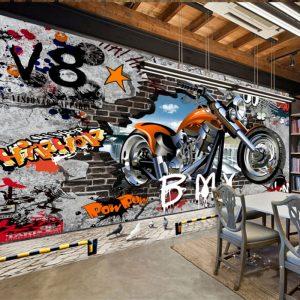 tembok grafiti 3d motor