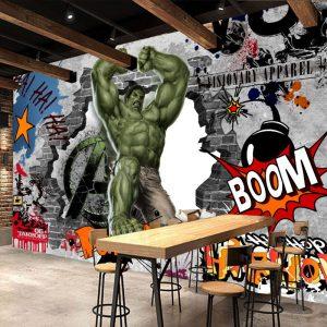 wallpaper superhero hulk grafiti 3d
