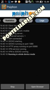 aplikasi internet gratis psiphondi hp android