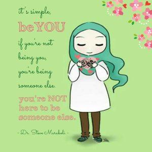 Gambar DP BBM Hijab Muslimah Syar\u002639;i Kartun Lucu  Ponsel Harian