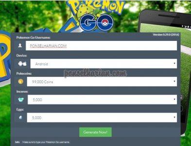 cara cheat coin pokemon go gratis
